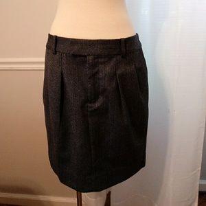GAP Blue stripe wool mini skirt, pockets SZ 8